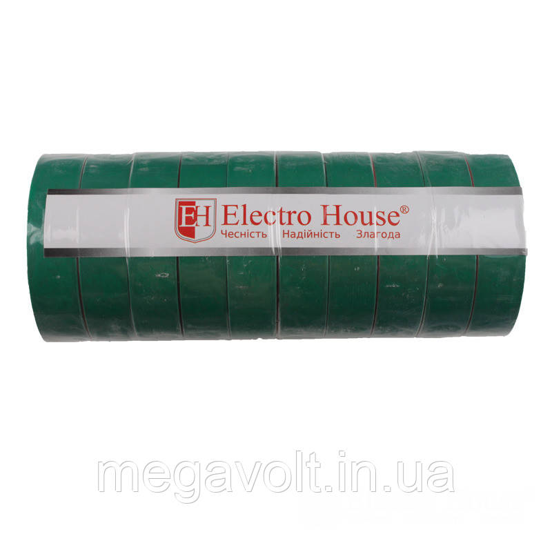 Изолента зеленая 0,15мм х 18мм х 50м
