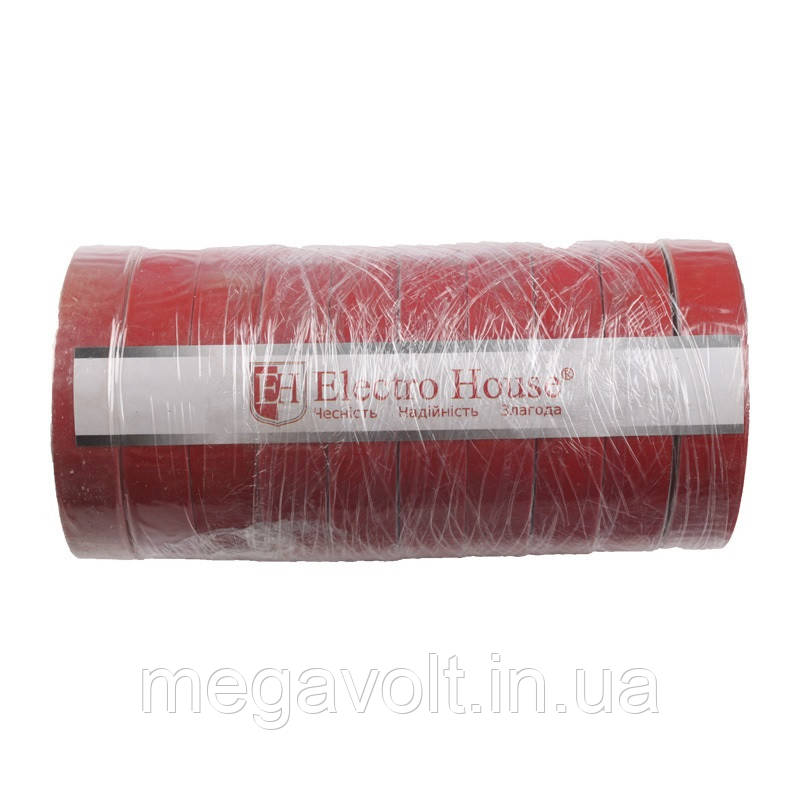 Изолента красная 0,15мм х 18мм х 50м