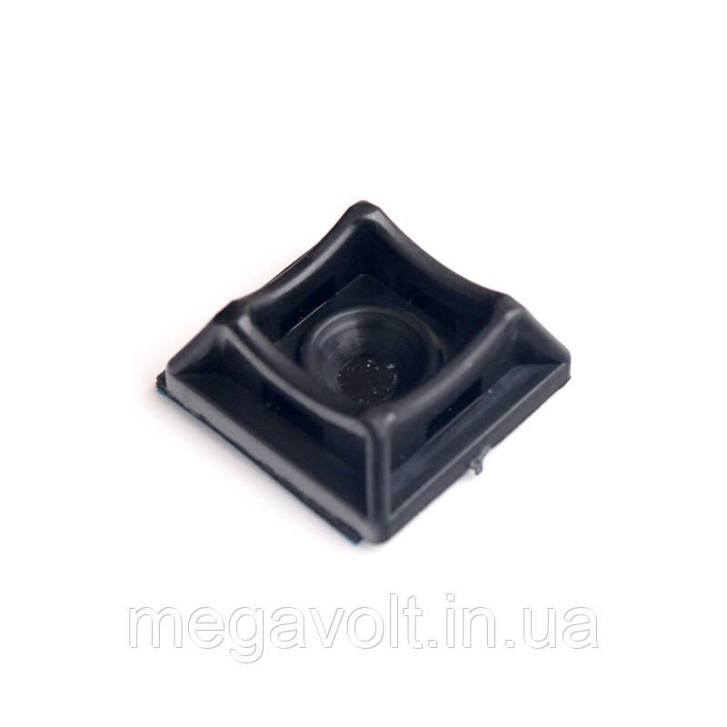 Площадка для стяжки [хомутов] универсальная 20х20 мм черная нейлон