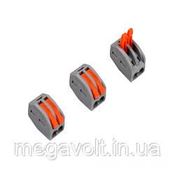 Коннектор на два контакта (400В, 32А) самозажимный