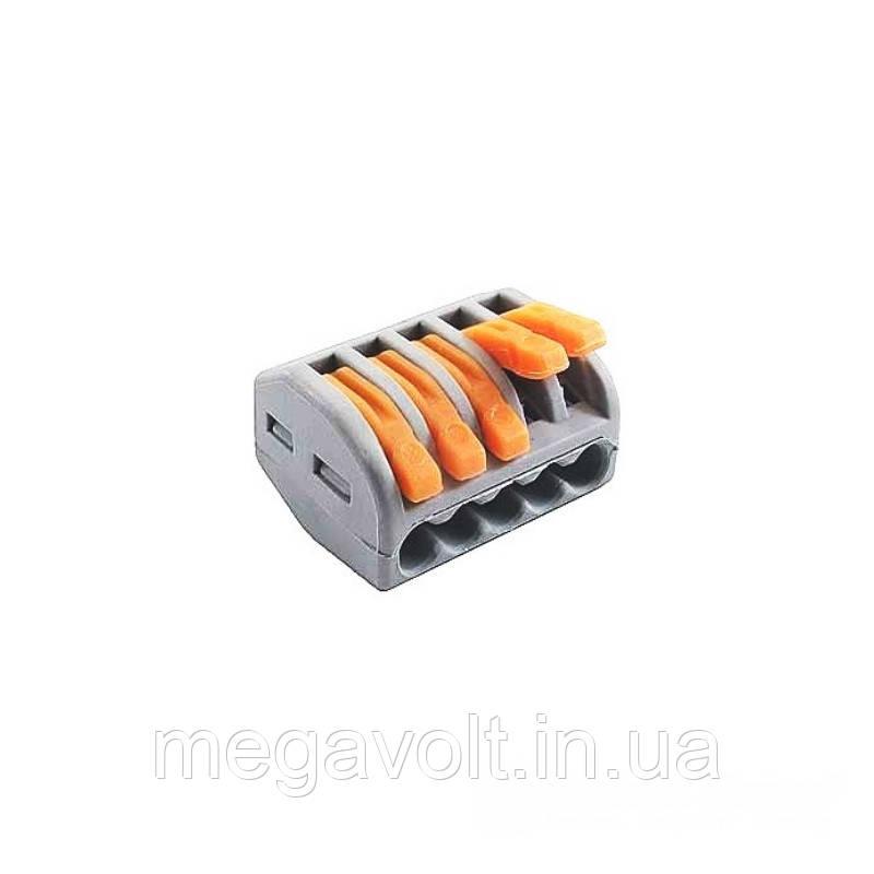 Коннектор на пять контактов (400В, 32А) самозажимный