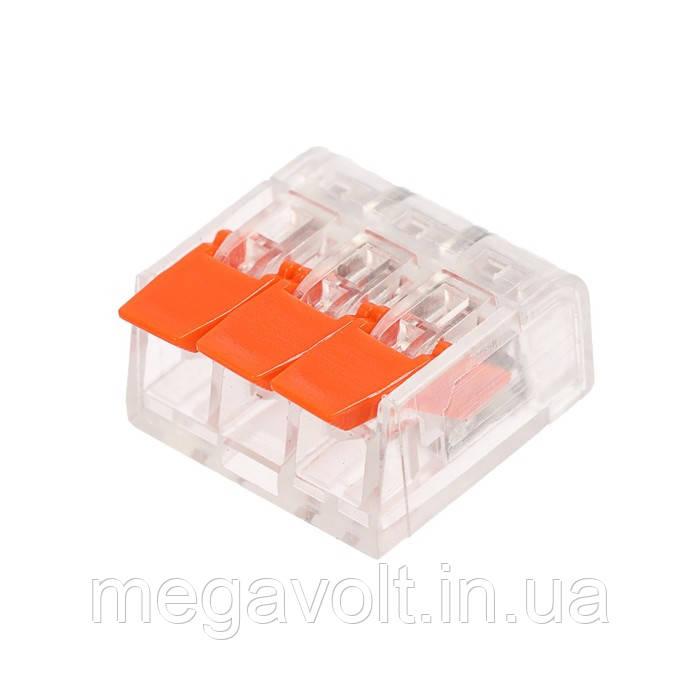 Коннектор на три контакта (450В, 32А) самозажимный