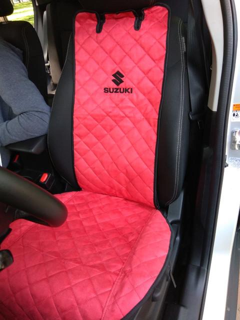 Накидки/чехлы на сиденья из эко-замши Сузуки Новая СХ 4 (Suzuki New SX-4)