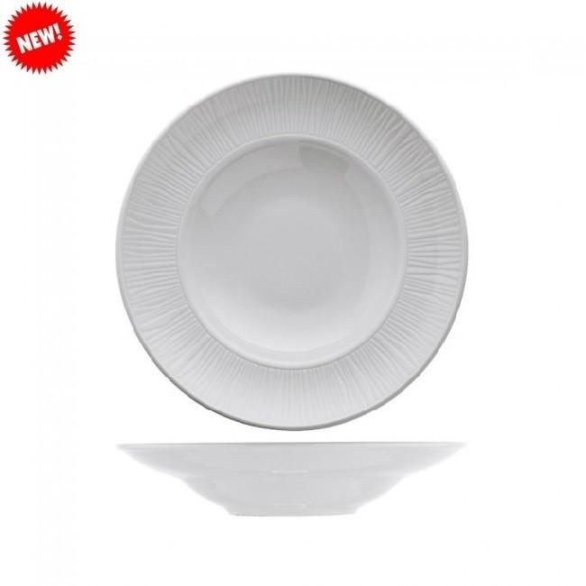 Тарелка белая фарфоровая глубокая для пасты Kutahya EMOTION  270мм