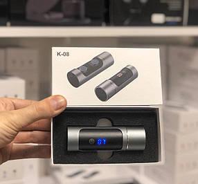 Беспроводные Bluetooth наушники Wireless Earbuds K08 метал-хром