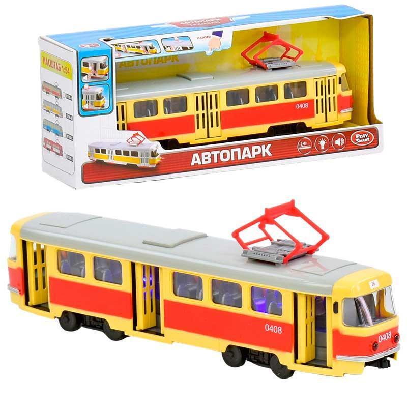 "Машинка Автопарк ""Трамвай"" ЖОВТИЙ арт. 9708 В"