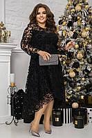 Женское ассиметричное платье, больших размеров 48-62