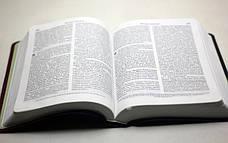 Библия, современный русский перевод РБО (экокожа, сине-коралловая, без замка, без указателей,15х22), фото 3
