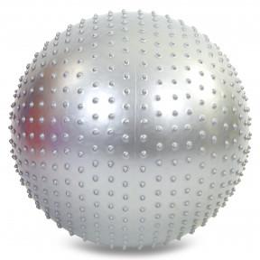Фитбол мяч для фитнеса гимнастический полумассажный 2в1 75 см Zelart FI-4437-75