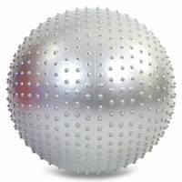 Фитбол мяч для фитнеса гимнастический полумассажный 2в1 75 см Zelart FI-4437-75, фото 1