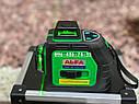 Лазерный уровень 3D AlFa ALNL-3DG зеленый луч нивелир 12 линий, фото 6