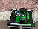 Лазерный уровень 3D AlFa ALNL-3DG зеленый луч нивелир 12 линий, фото 3