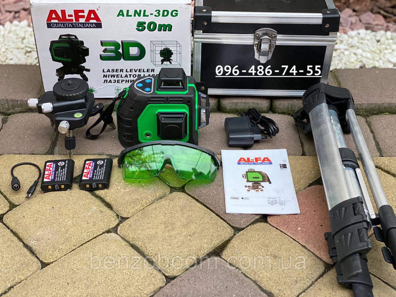 Лазерный уровень 3D AlFa ALNL-3DG зеленый луч нивелир 12 линий
