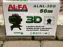 Лазерный уровень 3D AlFa ALNL-3DG зеленый луч нивелир 12 линий, фото 4