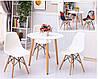 Кухонный стол круглый MDF 80 см, фото 2