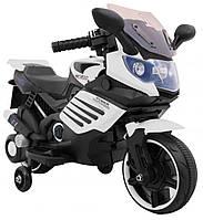 Детский электромобиль-мотоцикл SuperBike белый