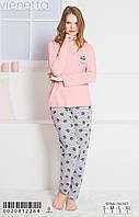 Женская пижама с брюками Vienetta 0020812284 розовый