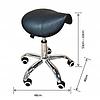 Косметический стул табурет Calissimo черное, фото 2