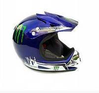 Мото шлем MONSTER синий
