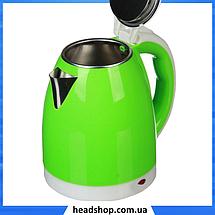Электрочайник DOMOTEC MS-5025C - Чайник электрический 2.0 л 220V/1500W Зеленый, фото 2
