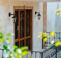 Плитка белая травертиновая для облицовки фасада домов