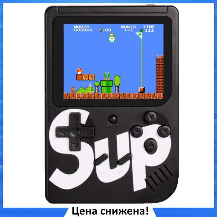 Игровая приставка SUP Game Box 400в1 Черная - Приставка Dendy с подключением к ТВ, портативная консоль 400 игр
