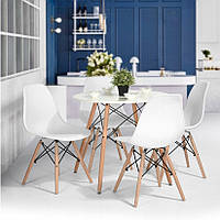 Кухонный комплект стол круглый и 4 стула MUF-ART