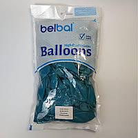 """Воздушные шары Belbal пастель бирюзовый 12""""(30 см) 50 шт, фото 1"""