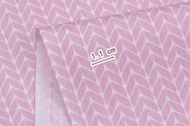 Сатин-твил Косички розовые