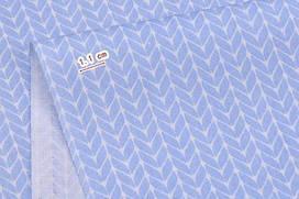 Сатин-твил Косички голубые