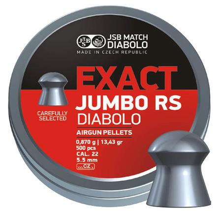 Пули пневм JSB Diablo Exact Jumbo RS 5,52 мм 0,870 гр. (500 шт/уп), фото 2