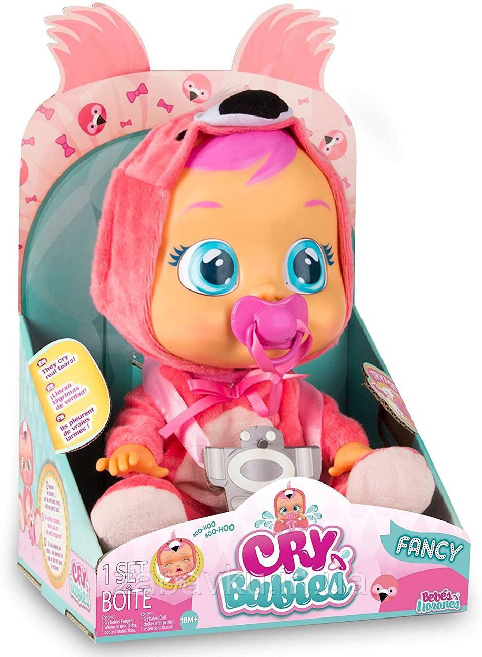 Cry Babies Fancy The Flamingo Doll Интерактивная кукла пупс плакса Край бейби Фламинго