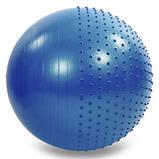 Мяч для фитнеса (фитбол) полумассажный 2в1 75 см Zelart FI-4437-75, фото 3