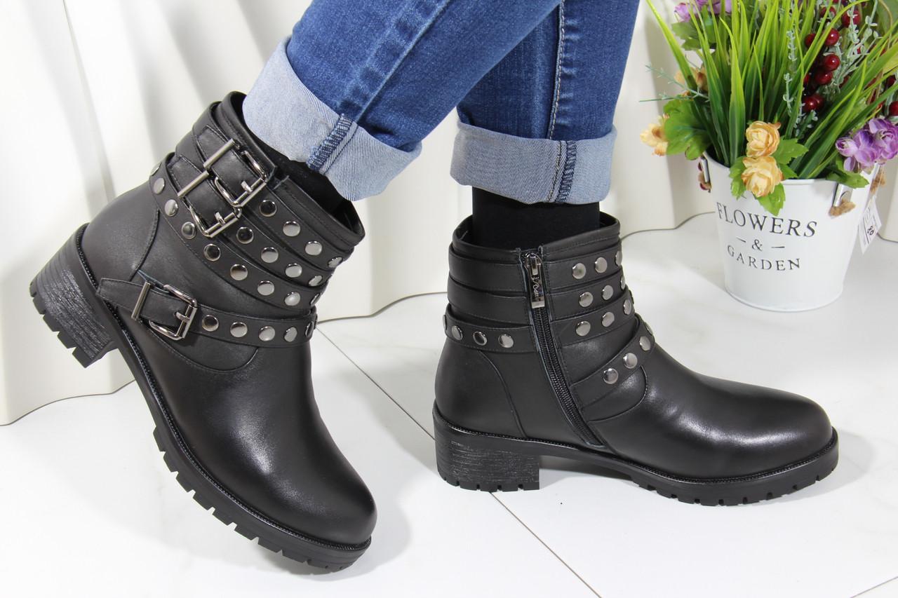 Шкіряні зимові черевики Battine M503