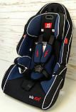 Автокресло универсальное цвет чёрно-синий 9-36 кг, с бустером, Joy G 2010, фото 5
