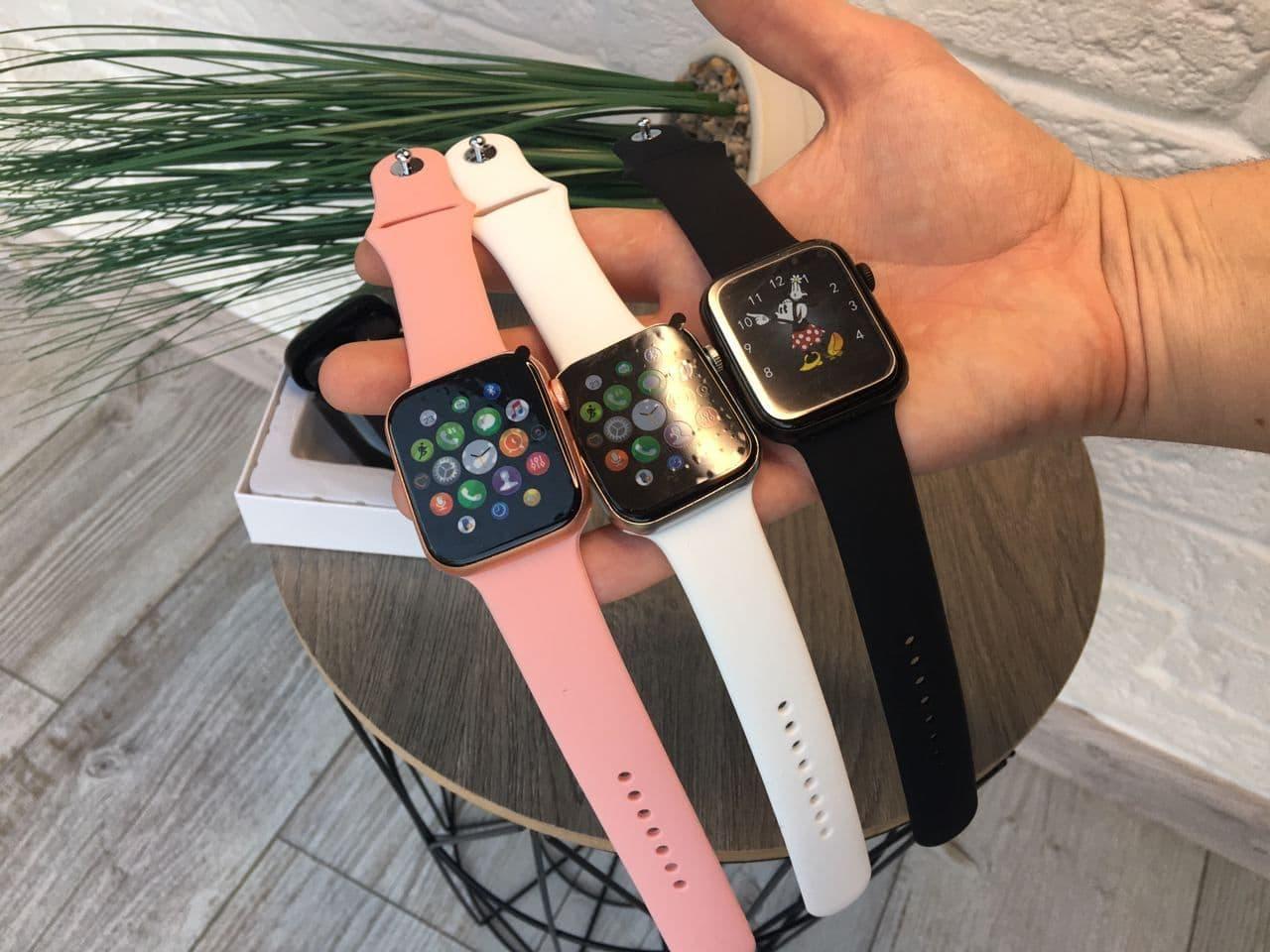 ПОДАРОК! Смарт часы SMART WATCH 6 44MM Черный, Белый, Розовый