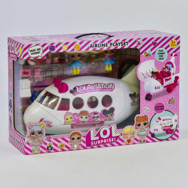 """Кукольный набор LOL """"Самолёт"""": автобус, вертолёт, куколки, и аксессуары (К 5625)"""