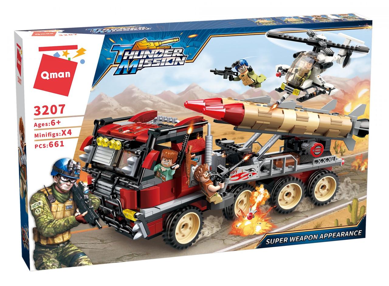 """Конструктор Qman Thunder Mission 3207 """"Ракетная установка"""" 661 дет"""
