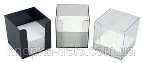 Бокс 90х90х90 мм з папером ВВ 0999 прозор.