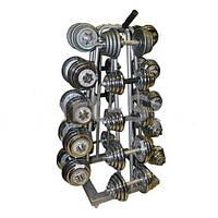 Стойка четырехсторонняя для гантелей