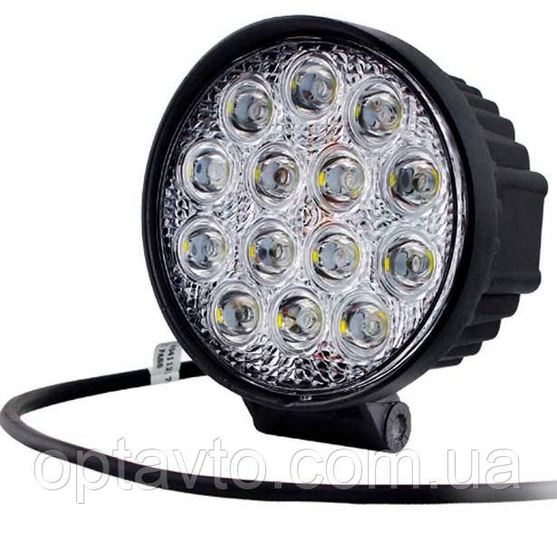 Фара светодиодная круглая. 47W 12-24 Вольт (115*45мм) LED (лэд) фара на авто, трактор, спец технику, мото.
