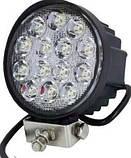 Фара светодиодная круглая. 47W 12-24 Вольт (115*45мм) LED (лэд) фара на авто, трактор, спец технику, мото., фото 2