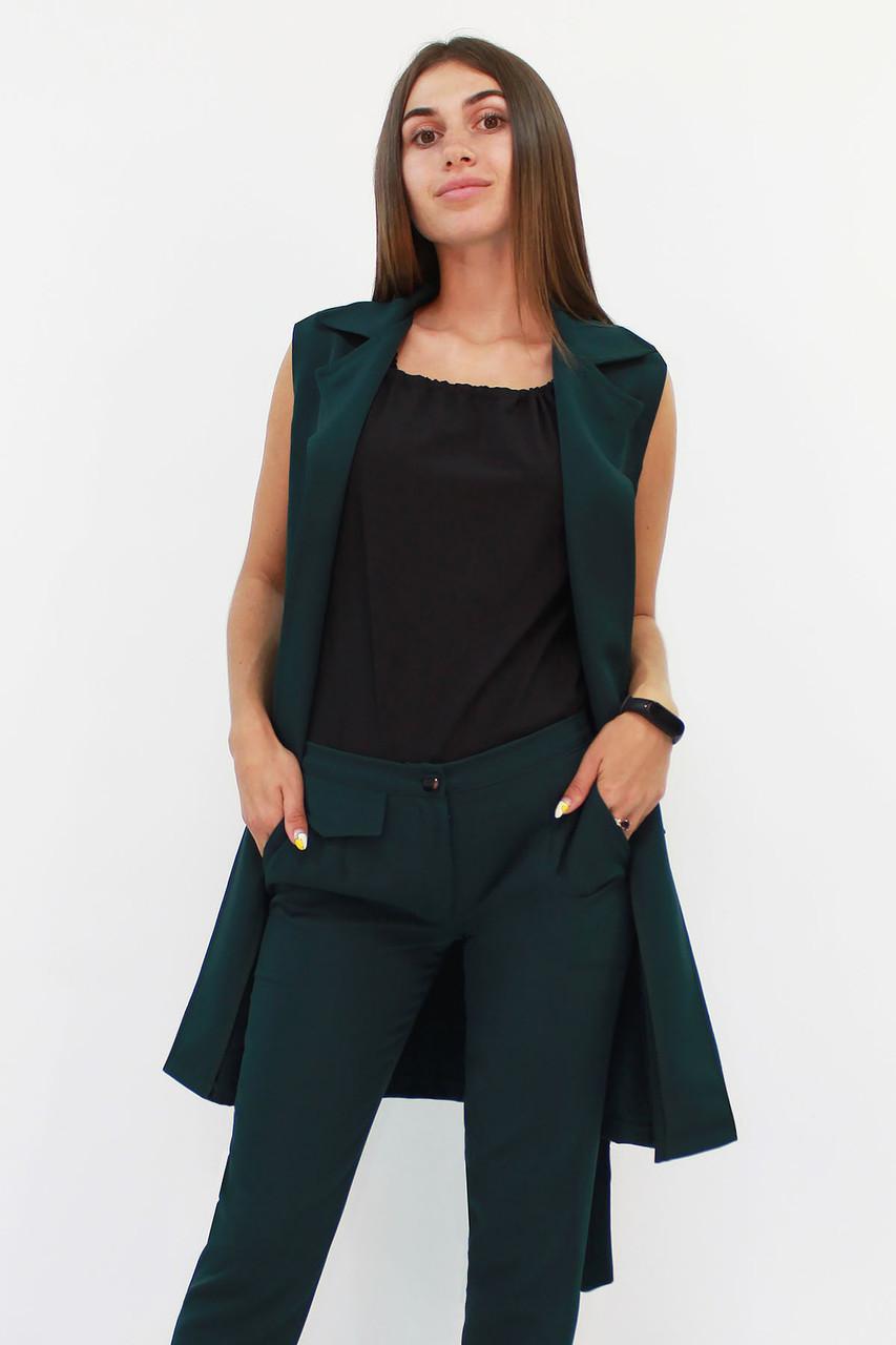 Женский удлиненный костюм Endru, темно-зеленый