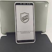 Xiaomi Redmi Note 5 захисне скло для телефона противоударне 5D Full Glue Black (повна проклейка)