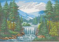 Схема для вышивки бисером Горная река