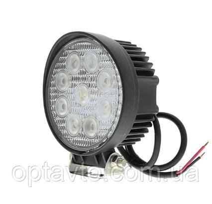 Фара светодиодная круглая. 42W 12-24 Вольт (115*45мм) LED (лэд) фара на авто, трактор, спец технику, мото.