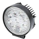 Фара светодиодная круглая. 42W 12-24 Вольт (115*45мм) LED (лэд) фара на авто, трактор, спец технику, мото., фото 2
