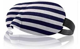 Окуляри для сну Deco 3D в смужку Чорно-білий (937-02)