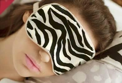 Маска для сна из шёлка Deco Черно-белый (897-02)