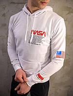 Худі чоловічий білий NASA (Nasa)